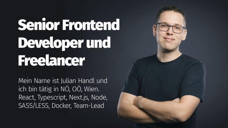 Senior Frontend Developer Julian Handl